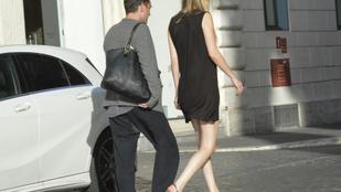 Jude Law Rómában romantikázott