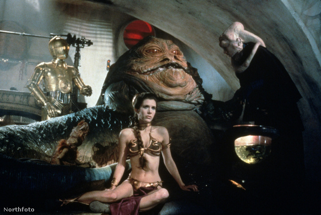 Carrie Fisher a Jedi visszatér című Star Wars filmben viselt ilyen merész bikinit 1983-ban.