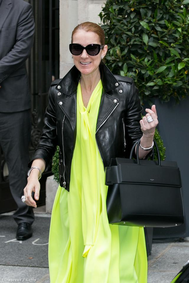 Dion az első híresség aki felvette a Gvasalia féle Balenciaga ruhát és az új Givenchy táskát. A Saint Laurent kabátot viselő énekesnő körülbelül 768,831 forintot fizetett a dizájnertáskáért.