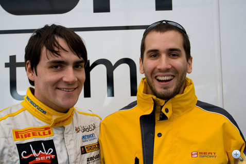 Photo of Norbert Michelisz & his friend driver  Kiss Norbert - Hungary