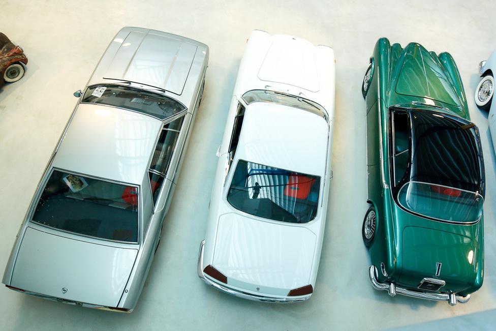 Lanciák felülről, bal oldalon az egyedi, Flaminia-alapú Marica, középen a Flaminia Coupé Speciale, jobbra az Aurelia Vignale. Kettő egyedi darab, a harmadikból négy példány készült.