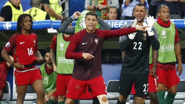Ronaldo fantasztikus beszédet tartott a félidőben