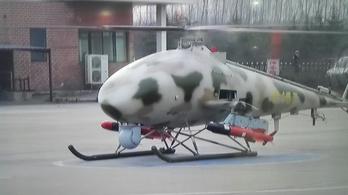 Földi célpontokra lő a drónhelikopter