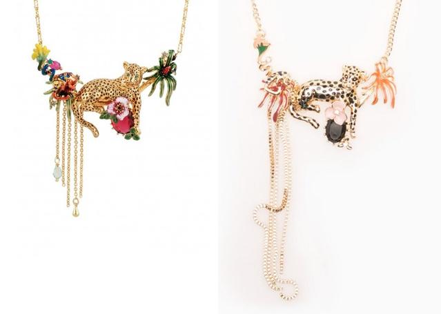 A bal oldali nyaklánc a Les Néréides 1250 eurós terméke, jobbra a Stradivarius 1295 forintos láncát láthatja.