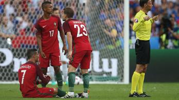 C. Ronaldo a bíró fejét is megrázta
