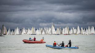 Hajókat rongált a vihar a Balatonon