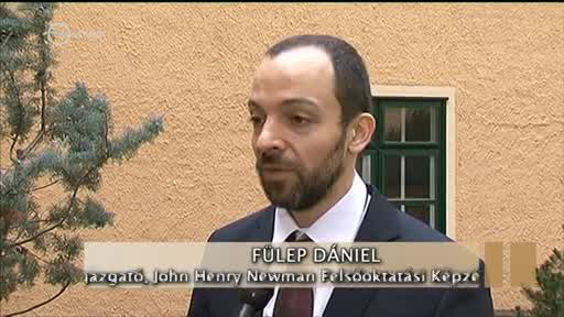 Fülep Dániel az iskola vezetőjeként a köztévében