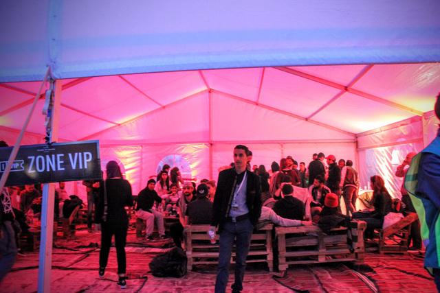 A VIP-ban is zajlott az élet.