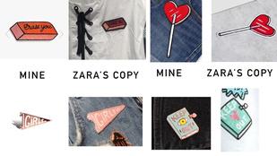 Ismeretlen tervezőtől lophatott a Zara, nem bánja