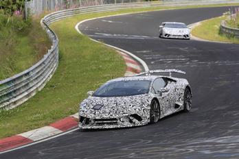 Álcázott Lamborghinik a Nürburgringen
