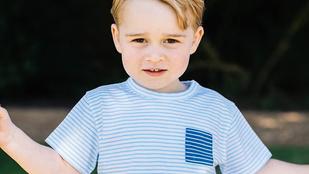 A hároméves György herceg évről évre cukibb