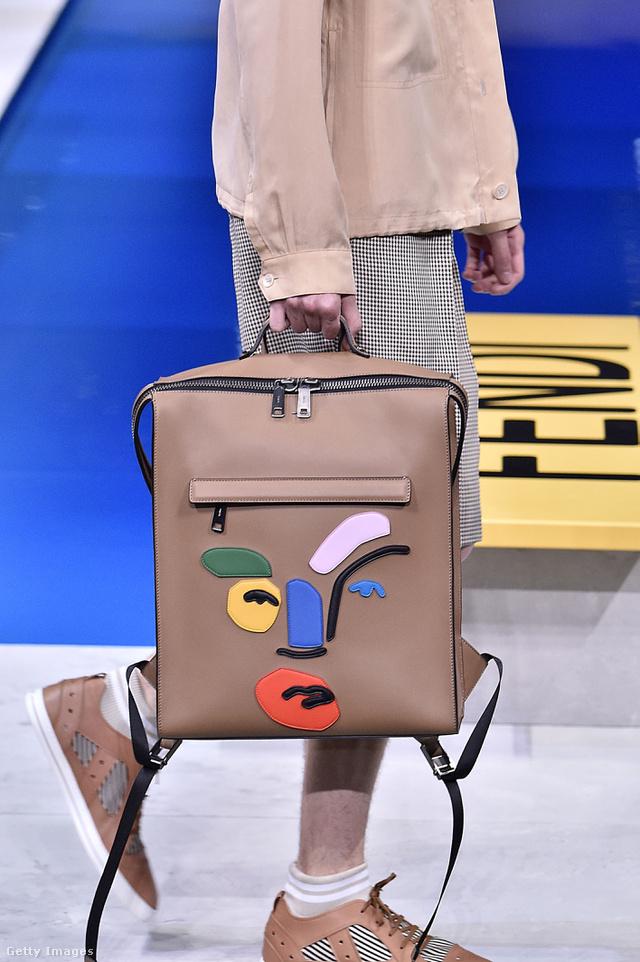 A keramikusként és illusztrátorként ismert John Booth rajzai a Fendi új férfi kollekciójának táskáin.
