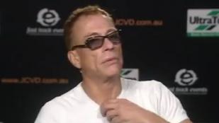 Jean Claude Van Damme-ot unalmas kérdések késztették viharos távozásra