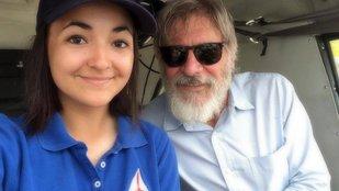 Jodie pilótája Harrison Ford világsztár