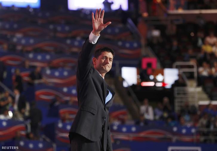 Paul Ryan házelnök a republikánus konvenció második napján, Clevelandben, 2016. július 19-én