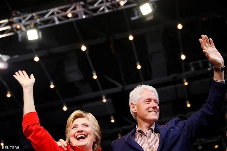 Hillary és Bill Clinton pittsburghi kampányrendezvényen, 2016. július 30-án