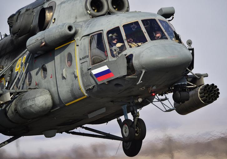 Mi-8 típusú orosz helikopter