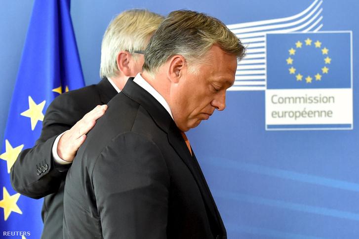 Orbán Viktor és Juncker Brüsszelben