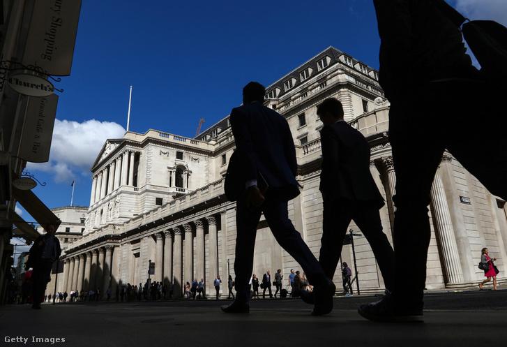 Az Egyesült Királyság központi bankjának épülete
