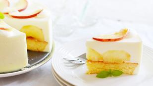 Pénteki süti: őszibarackos joghurttorta