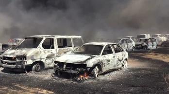 422 autó égett ki egy portugál fesztivál parkolójában