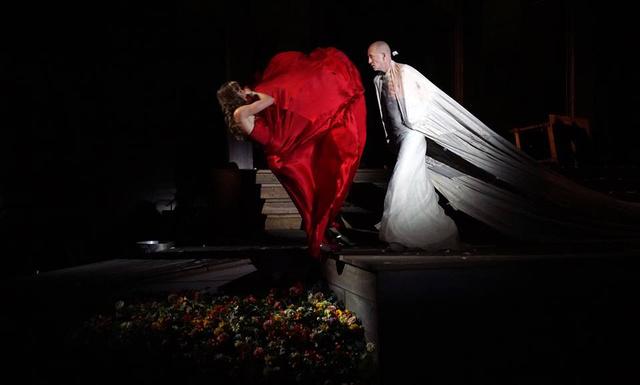 A Jedermann című darab Salzburgban az Ünnepi Játékokon