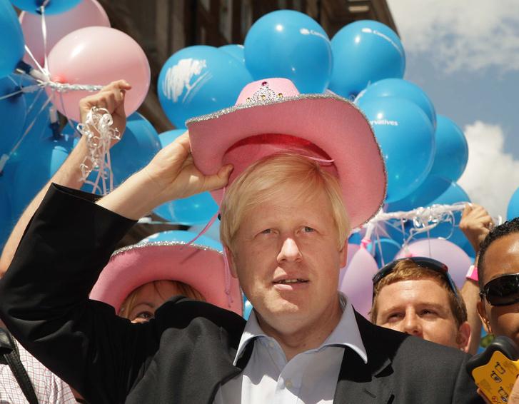 Boris Johnson 2008-ban a London Pride-on