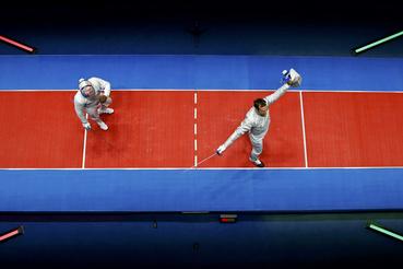 Ahol az amerikai, kissé tapasztalanabb Daryl Homer várta, akit nagyon simán 15-8-ra győzött le és védte meg olimpiai bajnoki címét.