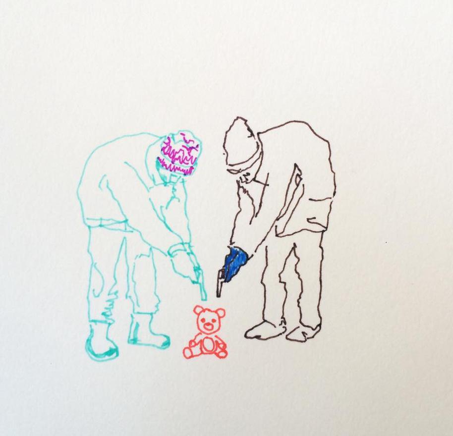 """Horváth a napi rajzolást vitte tovább budapesti életéből. """"Itt nincs felettem galéria, kurátor, múzeumigazgató sem. Görcs és hajsza nélkül tudok dolgozni. A neten és az utcán is gyűjtöm a témát. Ha valami felzaklat, megrajzolom."""""""