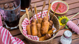 Olimpiai nasi: corn dog