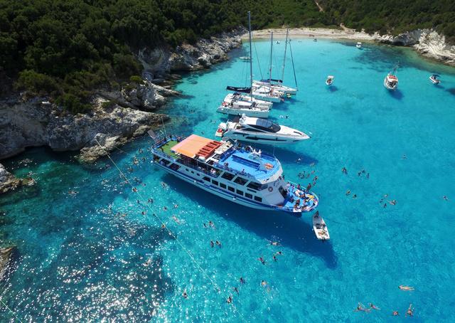 Voutoumi strandja Antipaxos szigetén