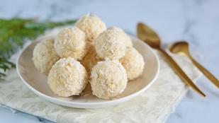 Sütés nélküli édesség: kókuszos túrógolyó