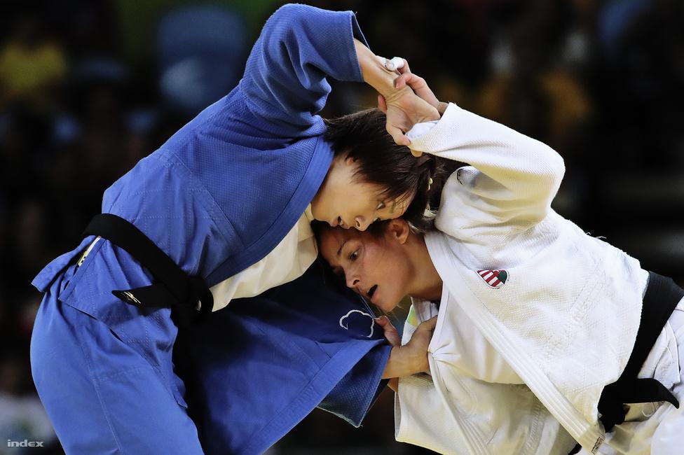 Karakas Hedvig meccse a tajvani Lien Csen-ling ellen a női dzsúdósok 57 kg-os súlycsoportjában. A magyar egyetlen jukóval kapott ki a vigaszágon és ő a 7. helyen végzett.
