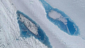 Furcsa kék tavak ezrei jelennek meg az Antarktiszon