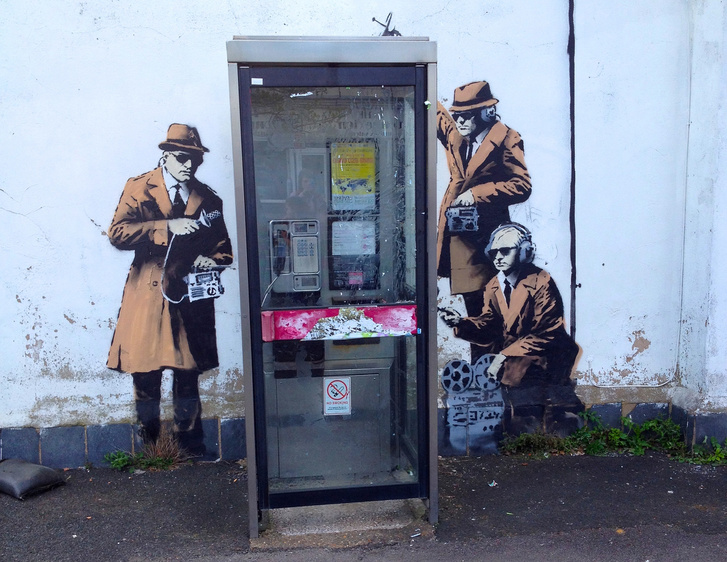 Spy Booth - Banksy in Cheltenham