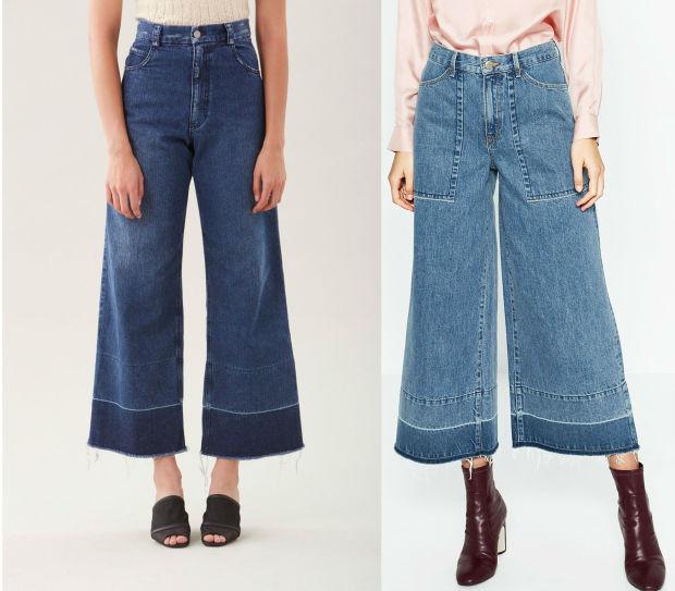 Árnyalatbeli különbségek vannak Comey és a Zara nadrágja között.