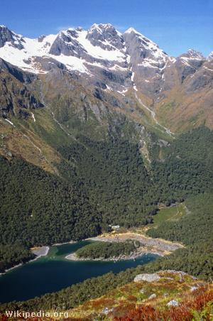 A Routeburn túraútvonal Új-Zéland Déli-szigetén