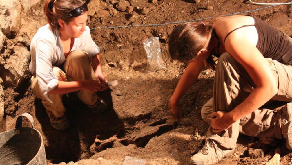 Az ásatás Szíriában