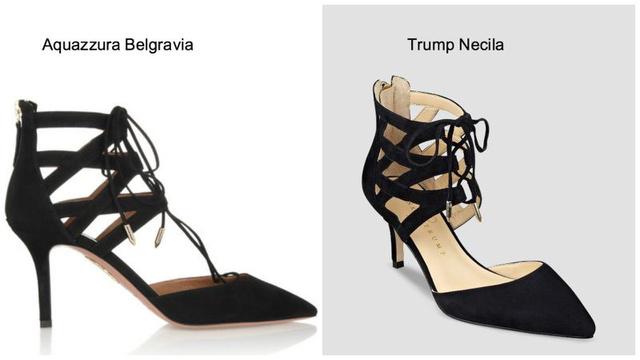 Pár száz dollár különbség van a két cipő között.