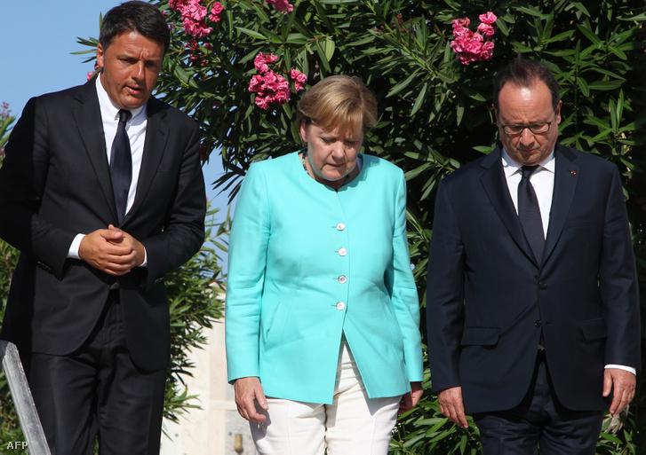 Matteo renzi, Angela Merkel és Francois Hollande