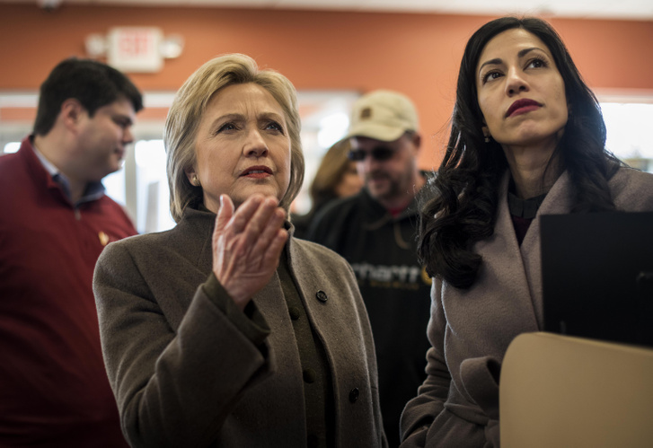 Clinton és Huma Abedin