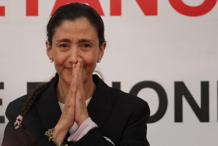 Ingrid Betancourt 2008-as kiszabadulása után.