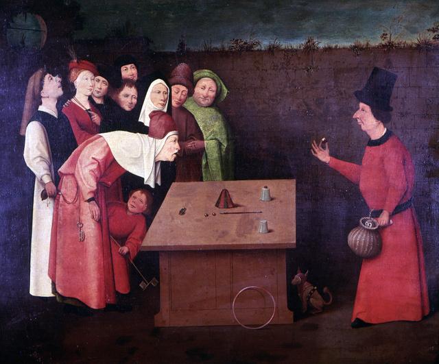 1475–1480 között készült a Bűvész című festmény.