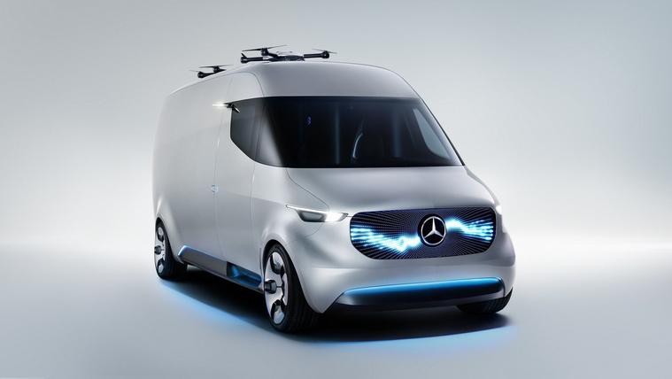 Drónokkal szállít a Mercedes jövő-furgonja
