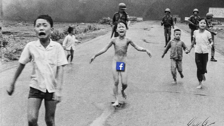 A Facebook cenzúrázta a világ leghíresebb háborús fotóját