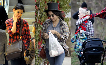 Celebs wear flannel