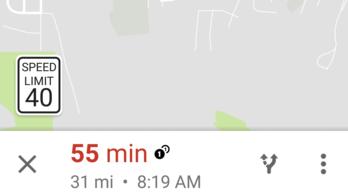 Sebességhatárokat mutat a Google térképe