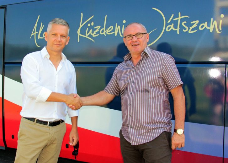 György Tamás és Vancsa Miklós, a felnőtt csapat ügyvezetője
