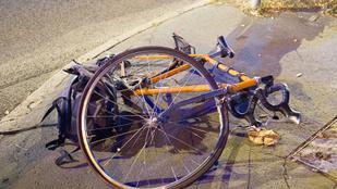 Életveszélyesen megsérült egy elgázolt biciklis az Istenhegyi úton