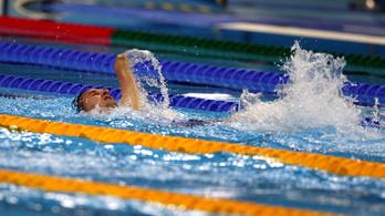 Vereczkei Zsolt bronzérmes 50 méter háton